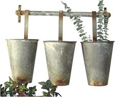 Wall Mounted Aged Tin Metal Garden Buckets Use for Flower... https://www.amazon.com/dp/B01BUMCS9C/ref=cm_sw_r_pi_dp_x_ojPOxbS01NRTG