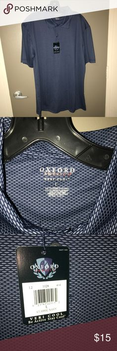 Oxford Performance Polo *not columbia* NWT performance polo in navy blue Columbia Shirts Polos