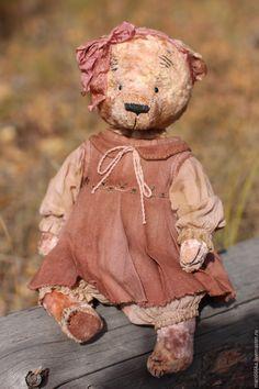 Купить Тоня. - бежевый, тедди, мишка тедди, Плюшевый мишка, подарок девушке, винтаж