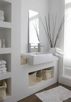 Small bathroom mirrors – If your bathroom is small and you want it to look bigger Midcentury modern bathroom Ikea bathroom Powder room Bathroom inspiration Specchio bagno Mirror ideas Open Bathroom, Attic Bathroom, Bathroom Spa, Bathroom Ideas, Bathroom Furniture, Bathroom Plans, Brown Bathroom, Bathroom Cabinets, Zen Bathroom Decor