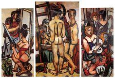 Max Beckmann:  Triptych, Argonauten (1949)