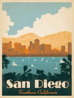 San Diego Travel Poster | Vintage Travel Posters and Vintage Prints