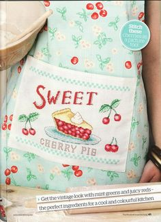cute cherry pie apron