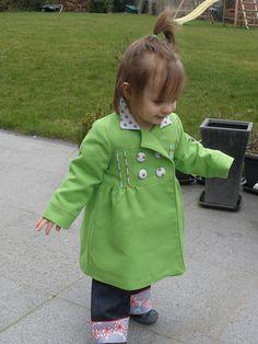 Green and polka dots.