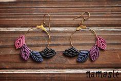 Etsy の LEAF earrings by VesnaFromHeart