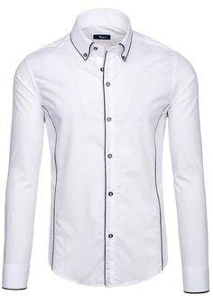 Pánská košile BOLF 6878 bílá BÍLÁ   Pánská móda \ Pánské košile \ Košile dlouhý rukáv Pánská móda \ Pánské košile \ kárované Premium Przecena 15%   Bolf - Internetový Obchod s Oblečením   Oděv   Oblečení   Kabáty   Bundy