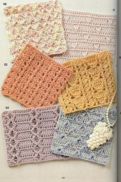 262 Patterns of crochet - issuu mag (lots of edging patterns in the last few pages)