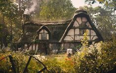 The Fairies Cottage Yennefer Of Vengerberg, Cottage In The Woods, My Dream Home, Future House, Countryside, Fairy Tales, Beautiful Places, Exterior, In This Moment