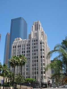Art Deco ~ Title Guarantee Building designed by John and Donald Parkinson in 1929-1931, northeast corner of Pershing Square at 411 W. 5th St., Los Angeles, CA