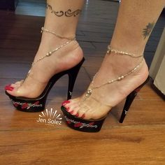 Fashion High Heels : Hot or Not Sexy Legs And Heels, Hot High Heels, Platform High Heels, High Heels Stilettos, High Heel Boots, Talons Sexy, Transparent Heels, Clear Heels, Gorgeous Feet