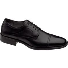 Johnston & Murphy Larsey Cap-Toe Oxfords ($135) ❤ liked on Polyvore featuring men's fashion, men's shoes, men's dress shoes, black, men, mens black cap toe shoes, mens black oxford shoes, mens black patent leather dress shoes, johnston murphy mens shoes and mens black shoes
