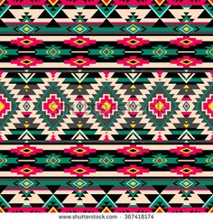 retro multicolor tribal vector seamless pattern. Aztec abstract geometric art print. ethnic hipster backdrop. Wallpaper, cloth design, fabric, paper, wrapping, textile. - stock vector