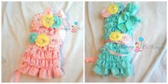 Hey, I found this really awesome Etsy listing at http://www.etsy.com/listing/124429504/u-pick-3pcs-romper-set-cotton-candy