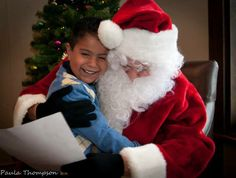 Sharing a special moment with Signing Santa at the Marion Downs Hearing Center's 2013 Holiday Party #CUHSLibrary