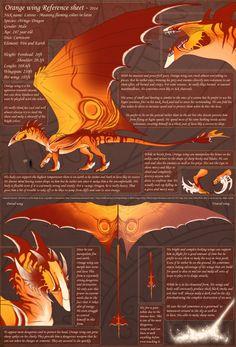 Orange wing Reference sheet by Ouiatchouan.deviantart.com on @DeviantArt