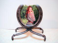 horseshoe picture frame by DavidHamiltonDesigns on Etsy