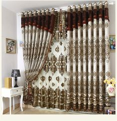 NEW! Decorative window curtain villa curtains living room bedroom Blind curtains for window 3 * 2.6m free shipping