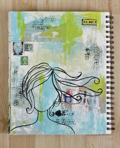 Art Journal Page in Progress - she lists her steps ... very helpful.  Via catidid-designs.blogspot.com/.