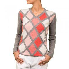 Green Lamb - Argyle Lambswool Sweater