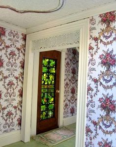 Dollhouses by Robin Carey. The wallpaper is divine