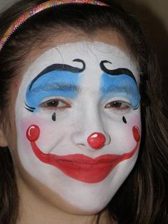 maquillage on pinterest clowns clown face paint and halloween face. Black Bedroom Furniture Sets. Home Design Ideas