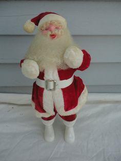 vintage harold gale santa claus harold gale red velvet santa standing santa in red velvet and white plastic boots santa claus ho ho ho - Santa Hohoho 2