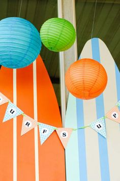 surf party decorations - Google Search