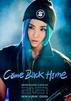 2NE1   Crush album   Come Back Home   산다라 박 Sandara Park dressed up like 서태지 Seo Tai Ji