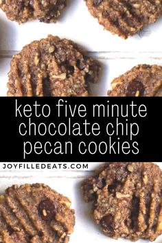 Low Carb Sweets, Low Carb Desserts, Low Carb Recipes, Diabetic Cookies, Keto Cookies, Pecan Cookies, Cookie Diet, Ketogenic Desserts, Keto Snacks