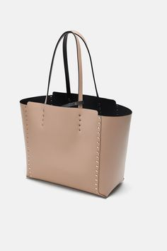 a39e80ec683 Image 4 of STUDDED REVERSIBLE SHOPPER BAG from Zara Shopper Bag, Michael  Kors Jet Set