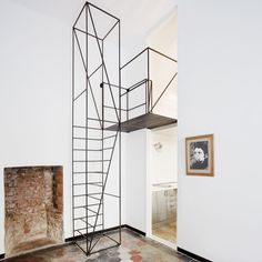 Lovely thin, wire staircase | CribcandyThe Best from Household and Interior Design Blogs Around the World, Every Day