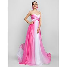 a-line αγαπημένη πάτωμα-μήκους σιφόν βράδυ / χορό φόρεμα (759955) – EUR € 120.28