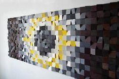 Reclaimed wood wall art, wood wall decor, wood art, modern wall decor, wooden sun burst, barn wood decor, farmhouse decor