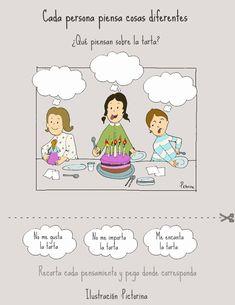 Dibujos para niños con T.E.A. y sus padres.