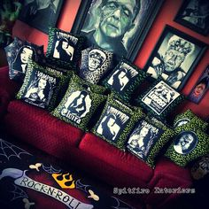 Coupons, Savings and Discounts in the San Gabriel Valley - www.thecouponflyer.com - Ghastly Throw Pillows at Spitfire Interiors, Whittier , California.