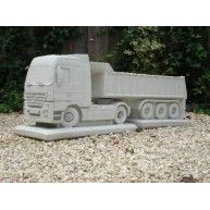 concrete truck beton lkw  Mercedes Actros LKW + Auflieger Kipper Trailer Stein - weiss