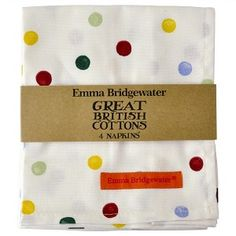 Napkins set of 4 Polka Dots - Emma Bridgewater - Pine-apple - Importeu