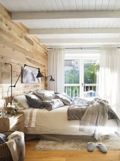 Trendy decor home bedroom woods 57 Ideas Wood Bedroom, Bedroom Decor, Bedroom Ideas, Wood Headboard, Design Bedroom, Deco Studio, Home Furniture Online, Rooms Furniture, Furniture Design