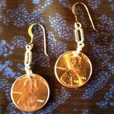 Link Penny Earrings   on sterling earwires by AnnPedenJewelry, $5.99
