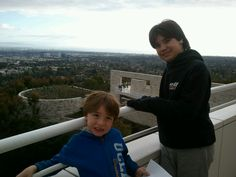 Hanging out at the Getty.