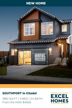 Offering style, function and plenty of natural light, the Southport is a wonderful family home with nearly 2,000 square feet of thoughtful design. You'll love to come home to this new home in one of our new and upcoming communities! Learn more at ExcelHomes.ca #3bedroomhome #familyhome #CalgaryHomeBuilder #AlbertaRealEstate #ExcelHomes 3 Bedroom Home Floor Plans, Small House Floor Plans, Small House Design, Dream Home Design, Build Your House, Building A House, Dining Nook, Southport, Luxury Vinyl Plank