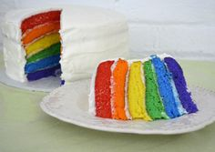 layered cakes, cake idea, birthday parties, food, rainbow cakes
