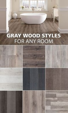 Here are some of our favorite gray wood look styles. Here are some of our favorite gray wood look styles. Hardwood, House Design, Flooring, Wood Laminate, Home Remodeling, Grey Wood, House Flooring, Wood Tile, Home Deco