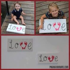 Cute kids project...gift for Grandparents even!!