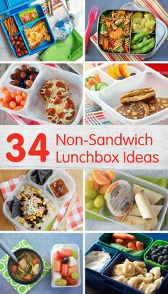 34 Non-Sandwich Lunchbox Ideas for Back to School - have a sandwich hater? Pack them one of these non-sandwich lunchbox ideas instead! Kids Lunch For School, Healthy Lunches For Kids, Healthy School Lunches, Toddler Lunches, Lunch Snacks, Non Sandwich Lunches, School Ideas, Cooking With Kids Easy, Easy Meals For Kids