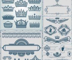 Royal design elements and frame vector