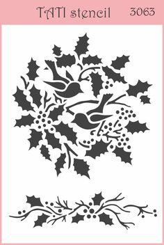 Трафарет гибкий TATI stencil 3063. цена: 29.00 грн. А6, 15 х 10 см. Трафареты TATI stencil Hobby & Decor - товары для рукоделия