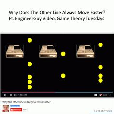 Note: this is a statistics topic rather than a game theory post At the supermarket checkout, should you pick the shorter line or the line where people have fewer items? I have gotten into heated ar… Game Theory, Statistics, Note, Games, People, Gaming, Toys, Game, Spelling
