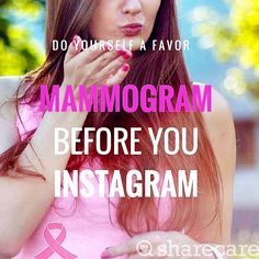 October is National Breast Cancer Awareness Month- do yourself a favor and get checked! #breastcancerawareness #october