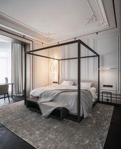 Simple Interior, Classic Interior, Apartment Interior, Home Interior, Living Room Decor, Bedroom Decor, High Beds, Round Beds, Bedroom Closet Design